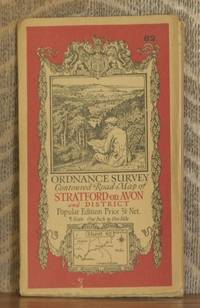 image of ORDNANCE SURVEY CONTOURED ROAD MAP OF STRATFORD-on-AVON AND DISTRICT Popular edition  Scale 1 inch to 1 mile- Sheet # 82