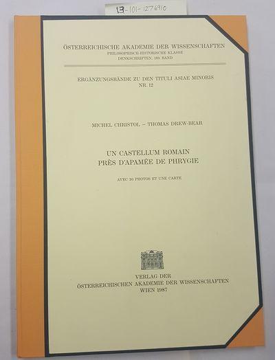 Wien: Verlag der Osterreichischen Akademie der Wissenschaften, 1987. Text in French; Thin quarto; VG...