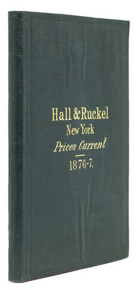 Prices Current of Hall & Ruckel, Importers, Manufacturers and Wholesale Druggists 218 & 220 Greenwich St. Subject to Market Fluctuations
