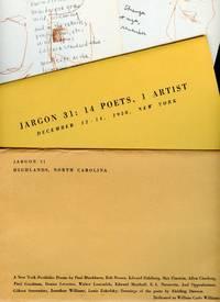image of Jargon 31: 14 Poets, 1 Artist (A New York Portfolio); December 12-14, 1958, New York