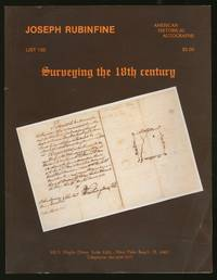 Joseph Rubinfine: List 133: Surveying the 18th Century, American Historical Autographs