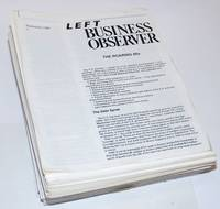 image of Left Business Observer [nearly unbroken run]: September 1986 [no. 1] - March 1988 [no. 18], #19 - #102, #104 - #136 [lacks #103],  the near-run of 135 unduplicated issues as a lot