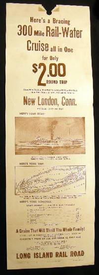 New York, N.Y.: Long Island Rail Road, 1936. Broadside with an illustration of the steamship 'Yankee...