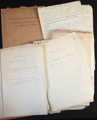 """[Manuscrits autographes et tapuscrits en partie inédits, éléments de maquette] Projet de livre sur la psychanalyse (""""Les Jardins de Psyché"""") et documents annexes"""