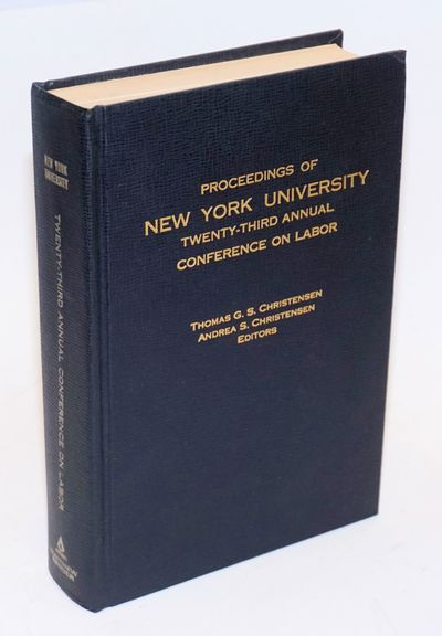 Albany: Matthew Bender, 1971. xv, 455p., hardback without dj, clean, tight binding. First page not p...