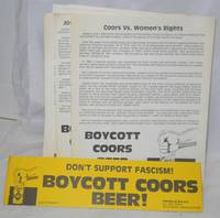 Eight Coors boycott items by Friends of M.A.R.K - [198-] - from Bolerium Books Inc., ABAA/ILAB and Biblio.com