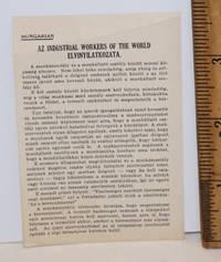 Az Industrial Workers of the World elvinyilatkozata