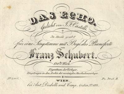 Wien: Ant. Diabelli & Comp. , 1832. Oblong folio. Disbound, with remnants of sewing. 1f. (title), 3-...