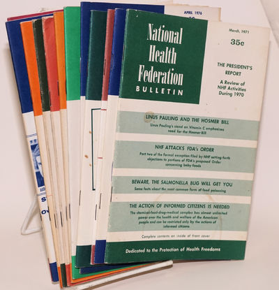 Monrovia, CA: National Health Federation, 1971. Eleven issues of the staplebound bulletin, 5.25x8.25...