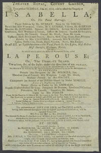 image of 'La Perouse; Or, the Desolate Island'. Theatre Royal, Covent Garden, February 23, 1813.  Playbill
