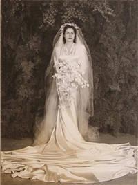 Mrs. Geo. De Latour, wedding portrait by  Harold Jr Mack - Signed - from Alan Wofsy Fine Arts (SKU: 65-0339)