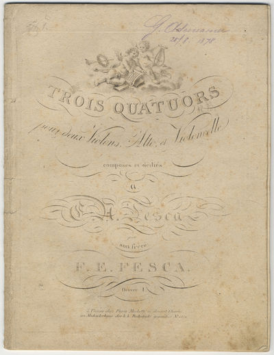Vienne: Pierre Mechetti ci-devant Charles , 1815. Folio. Disbound, with some leaves tipped-in. Violi...