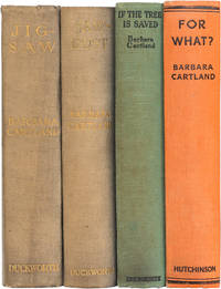1st editions of her first 4 novels, all inscribed to her Uncle; Jig-Saw (1925); Saw Dust (1926);  If the Tree Is Saved (1929); For What? (1930)