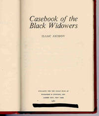 Casebook of the Black Widowers by  Isaac Asimov - First Edition - 1980 - from Orielis' Books and Biblio.com