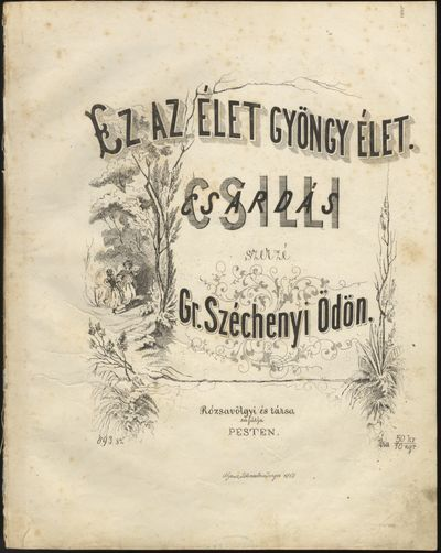 Pesten: Rózsavölgyi és társá , 1863. Folio. Disbound. 1f. (recto decorative lithographic title ...