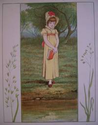 "ORIGINAL ANTIQUE COLOUR PLATE FROM ""THE MAY BLOSSOM; THE PRINCESS AND HER PEOPLE"". Reflective People."
