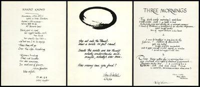 (San Francisco): (San Francisco). (1963-1964). Three broadsides: Gary Snyder's Nanao Knows, Lew Welc...