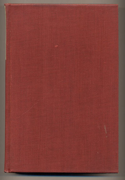New York: Dodd, Mead and Company, 1924. First edition. 227; 265pp. Red cloth boards with glassine wr...