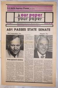 image of Our Paper, Your Paper; the gay family paper of the Santa Clara Valley; vol. 3, #4, February 22, 1984