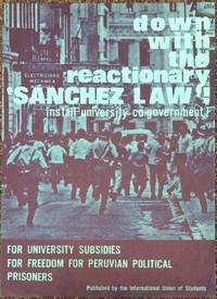 Down with the reactionary \'Sanchez law\'! Install university co-government! [poster]