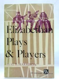 image of Elizabethan Plays & Players.
