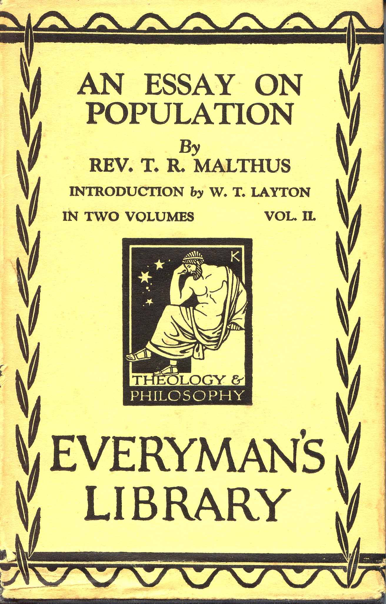 author of essay on population Describe how hardin formulates the population problem, and evaluate his  assumptions and his solutions in light of other evidence from the course.