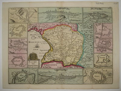 J. Ratelband, 1735. unbound. very good. Map. Engraving with original hand coloring. Image measures 7...