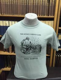 Doc Sarvis T-Shirt - Stonewash Green (XL); The Monkey Wrench Gang T-Shirt Series