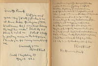 """NORTH OF BOSTON with an AUTOGRAPH LETTER SIGNED and a 14-line MANUSCRIPT FRAGMENT OF """"BIRCHES"""" by Frost"""