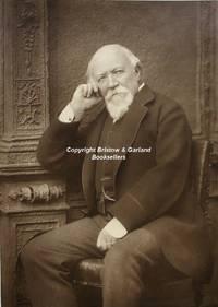 Robert Browning (1812-1889; poet), a portrait, by Herbert Rose Barraud (1845- 1895),  vintage photograph, carbon print, seated half length.
