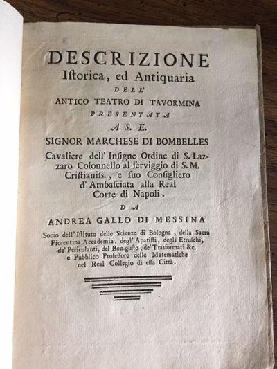 Descrizione Istorica, ed Antiquaria...