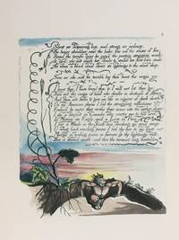 Individual Facsimile Prints from the Trianon Press; America A Prophecy, plate 2 by  William Blake - from Archives Fine Books  (SKU: 1216)