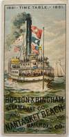 View Image 2 of 5 for 1881 Time Table Boston & Hingham Steamboat Co. and Nantasket Beach Railroad Co Inventory #950