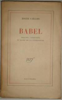 Babel orgueil confusion et ruine de la litterature