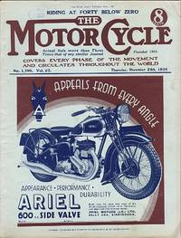 Motor Cycling [Magazine] Covers Every Phase of the Movement and Circulates Throughout the World. Riding at Forty Below Zero Volume 57. No. 1,759. December 24th, 1936