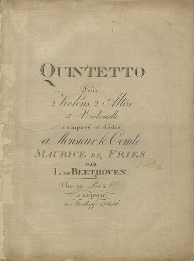 Leipsic: Breitkopf & Härtel , 1802. Folio. Unbound, as issued. Preserved in a modern full dark gree...