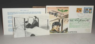 Boldly Signed by Tom Sopwith just after his 91st birthday. A fine first day cover produced in 1979 b...
