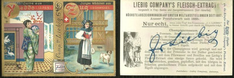 VICTORIAN TRADE CARD FOR LIEBIG COMPANY'S FLEISCH-EXTRACT, Advertisement