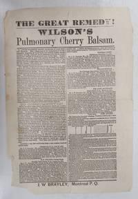 image of The Great Remedy! Wilson's Pulmonary Cherry Balsam