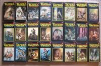 Tarzan:  Apes; Return; Beasts; Son; Jewels Opar; Tales; Untamed; Terrible; Golden Lion; Ant Men; Lord; Lost Empire; Earth's Core; Invincible; Triumphant; City  Gold; Lion Man; Leopard Men; Quest; Forbidden; Magnificent; Foreign Legion; Madman; Castawys