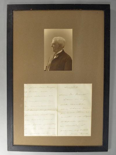 1894. HOLMES, Oliver Wendell. SIGNED LETTER. Addressed to William Dana Orcutt. Two oblong sheets, wh...