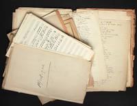 [Musique / Curiosa / Médecine] Important dossier, essentiellement manuscrit, sur les chansons françaises : chansons de salles de garde, chansons pour le bal de l'internat de 1922 et chansons populaires