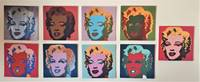 9 Marilyn Monroe prints. Andy Warhol - Corbis Luminaries Library