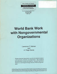 World Bank Work with Nongovernmental Organizations