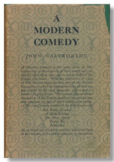 London: William Heinemann Ltd., 1929. Gilt lettered green cloth. Folding table. First edition, ordin...