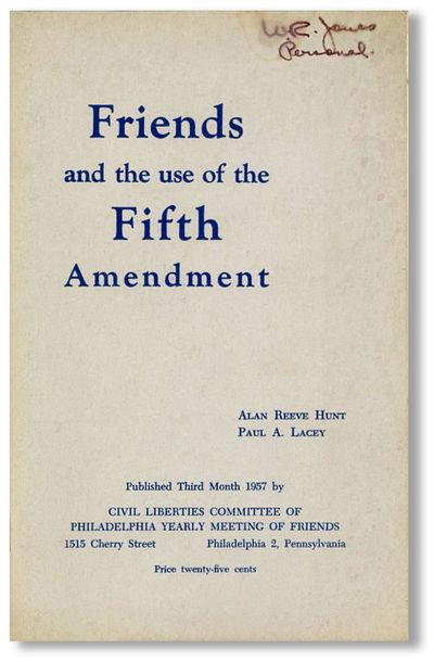 Philadelphia: Civil Liberties Committee of Philadelphia, 1957. First Edition. Octavo (20.5cm.); orig...