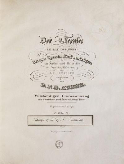 Leipzig: Breitkopf & Haertel ;, 1840. Folio. Full modern gray-tan boards with original decorative ti...