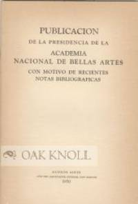 Buenos Aires: Año del Libertador General San Martin, 1950. paper wrappers. small 8vo. paper wrapper...