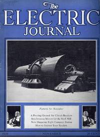 The Electric Journal, November 1930, Volume 27, No. 11