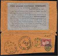 Civil War Across the Lines private express mail envelope with special instructional label